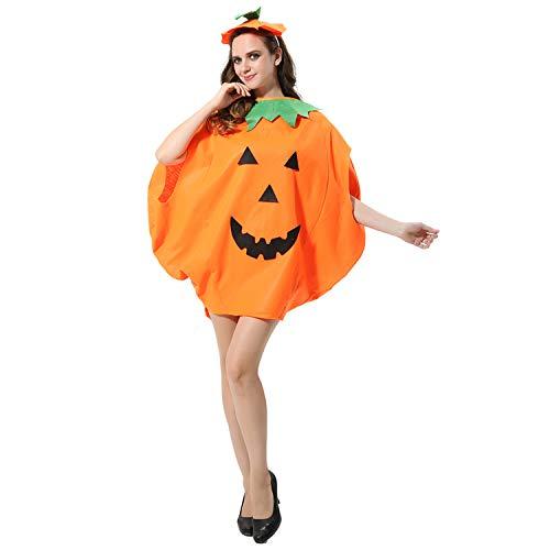 FEPITO 4Pz Unisex Adulto Costume di Zucca di Halloween Divertenti Costumi di Halloween Arancione Zucca Abiti da Festa Cosplay