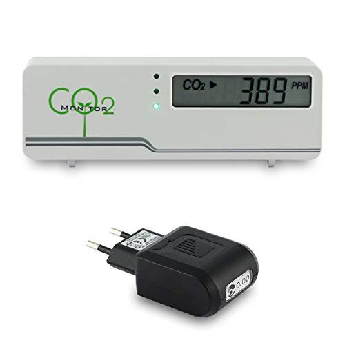 Forever25 CO2-Messgerät Monitor inkl. Netzteil und Software - AirControl Raumklima Raumluft