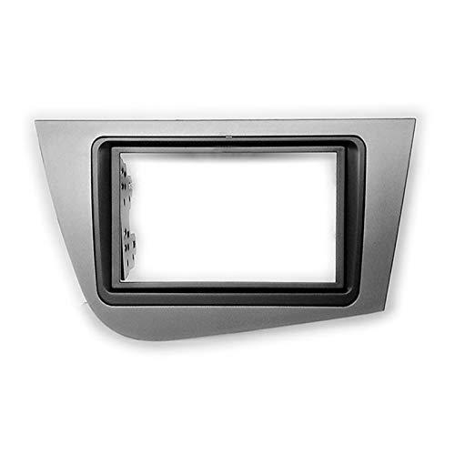 Rumors Coche Estéreo Fascia Dash Panel 2 DIN Frame Frame Kit Fit para Seat Leon 2005-2012 178x102mm