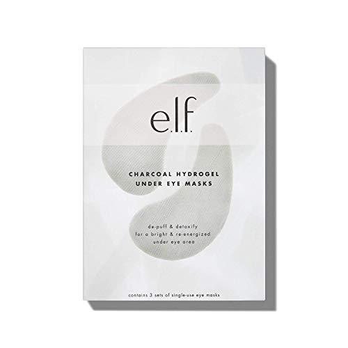 e.l.f. Charcoal Hydrogel Under Eye Masks, Plumps, Preps & Primes Eyes, 3 Sets, 0.14 Oz (4g) Gel & 0.07 Oz (2g) Serum Per Pair