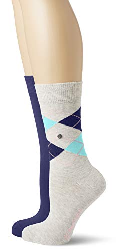 Burlington Damen Socken Everyday - Baumwollmischung, 2 Paar, Grau (Wool Grey Melange 3824), 36-41
