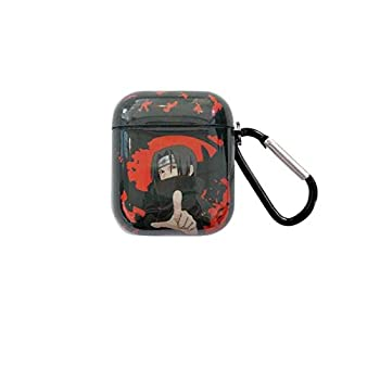 Naruto AirPods case Pain Kakashi Uchiha Itachi Gaara TPU Shell Covering The Skin Shockproof airpod case with Keychain Suitable for airpods 1&2  Uchiha Itachi