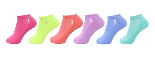 Polo Ralph Lauren Damen 6er-Pack gepolsterte Atheltic Low Cut Socken, Pink Sherbet, 9–11