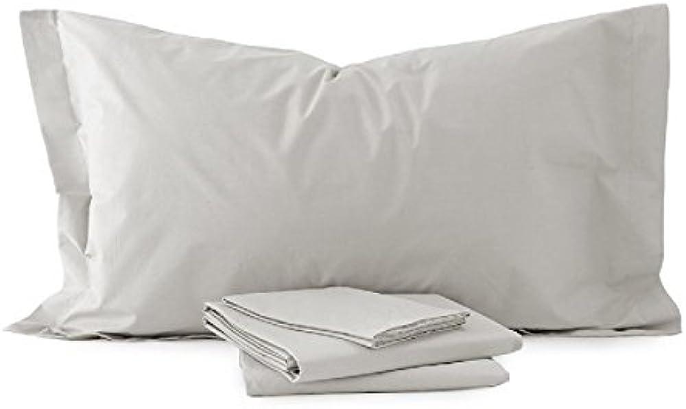 Laura biagiotti completo lenzuola matrimoniale con angoli elasticizzati 100% puro cotone percalle 4728_1-38