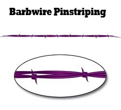 Purple Barbwire Pinstripe Decal - 48' L with 1 1/2' Barbs