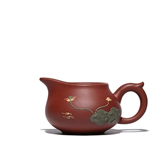 XueQing Pan Lotus Pond Paarse Klei erts Zhuni beurs Cup Kikker Theebeurs Cup Eén maat Paarse modder
