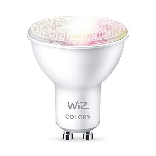 WiZ Lâmpada smart GU10 inteligente 400 lúmens 127V. Controle tudo por voz ou pelo celular, compatível com diversos assistentes de voz, incluindo Amazon Alexa