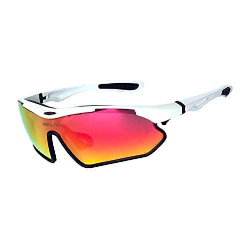 JLJLJL Gafas de Ciclismo Deportivas, Gafas de Sol para Hombres Mujeres Que corren Gafas de Pesca TR90 PROTECCIÓN UV UV C6