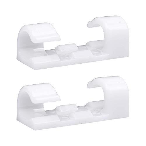 RYCHUI 60 Stück Kabelclips, Selbstklebend Kabelhalter, Schreibtisch Kabelklemme Set, Netzkabel, USB Ladekabel und Audiokabel Verkabelung, für Haus Auto Büro Kabelmanagement (Weiß)