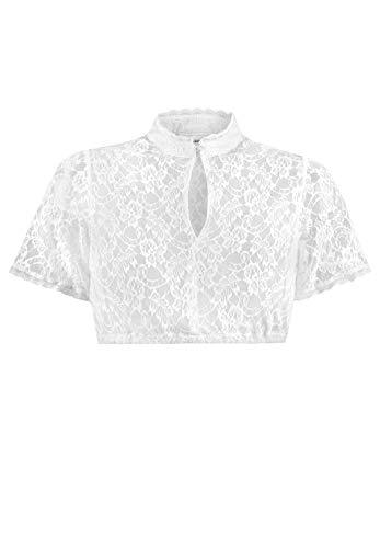 Stockerpoint Damen Dirndlbluse B-5077 Kleid für besondere Anlässe, Weiss, 34
