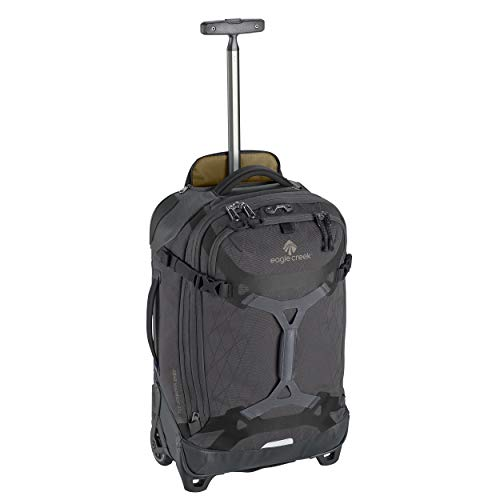 Eagle Creek Gear Warrior International Carry Luggage Softside 2-Wheel Rolling Suitcase, Jet Black