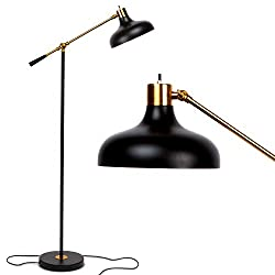 Industrial Floor Lamp for Living Rooms & Bedrooms - Rustic Farmhouse Reading Lamp