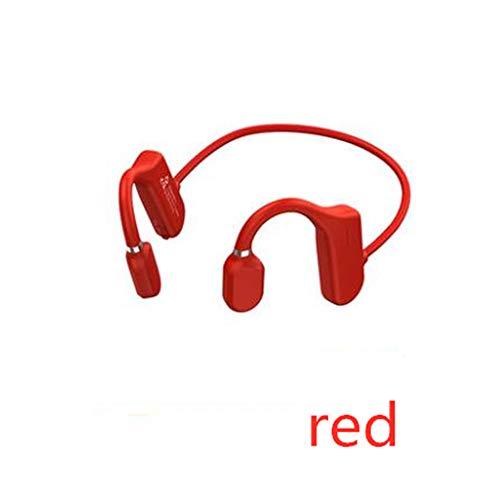 Bone Conduction Headphones-Bluetooth, Wireless Non-Ear Earphones with Microphone Open-Ear Smart Touch and Anti-Deformation Ear Headphones, Sweatproof