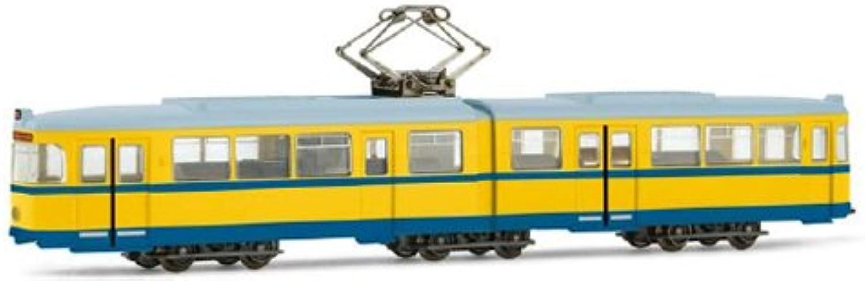 Arnold–HN2112–Modelleisenbahnen–Waggonfabrik Uerdingen Tram–Gt6Version Essen–Gelb Blau
