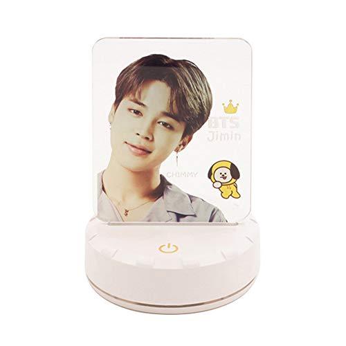 ALTcompluser Kpop BTS LED Nachtlicht Standing Figur Lampe, Nachttischlampe Touch Dimmbar 7-Farben ändern Schreibtischlampe mit USB-Kabel(Jimin - A)