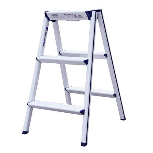 HYY-YY Escalera Plegable de Aluminio Grueso de los hogares multifunción Espiga Original diseño de Las heces de Almacenamiento Paso heces