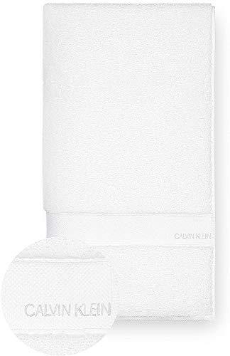 Calvin Klein Tracy Toalla de baño, Cotton, White, 92x183 cm