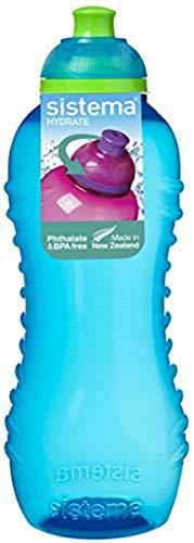 Sistema Hydrater Twist et SIP Bouteille d'Eau, Plastique, Couleurs Assorties, 460 ml