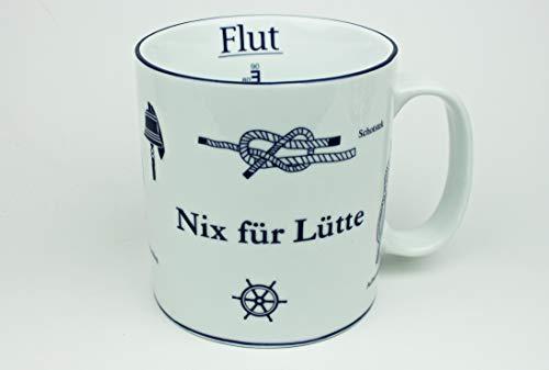 Nix für Lütte Becher mit Seemannsknoten groß Knotenbecher Jumbobecher Kaffeebecher