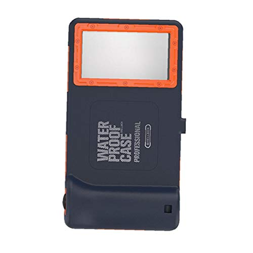 NaiCasy Funda Protectora del teléfono Carcasa Impermeable Universal del Caso con Todo Incluido por teléfono al Caso Impermeable para Azul Naranja