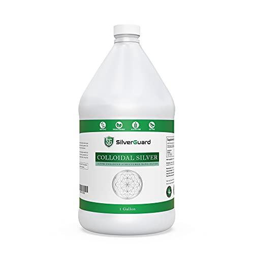 SilverGuard Enhanced Colloidal Silver Gallon Size—30ppm Pure & Natural Structured Silver Water—Organic Colloidal Silver Solution—1 Gallon