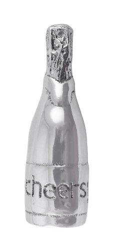 MARIPOSA Champagne Bottle Napkin Weight, Silver