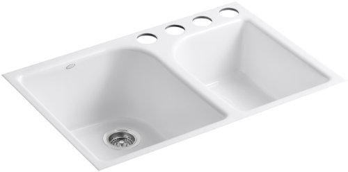 Kohler K-5931-4U-0 Executive Chef Undercounter Kitchen Sink,...