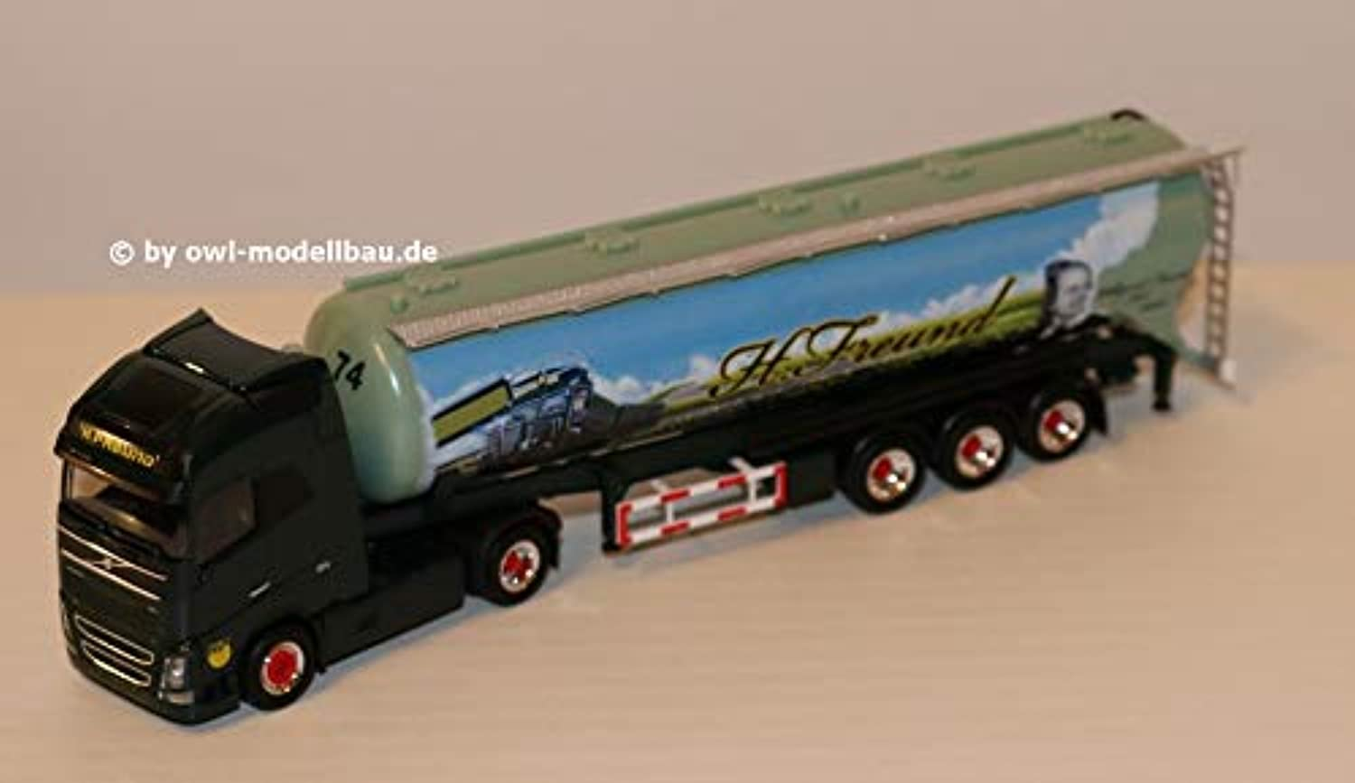 Herpa 309806 Volvo FH GI. XL FFB Silo Semitrailer Spedition Freund