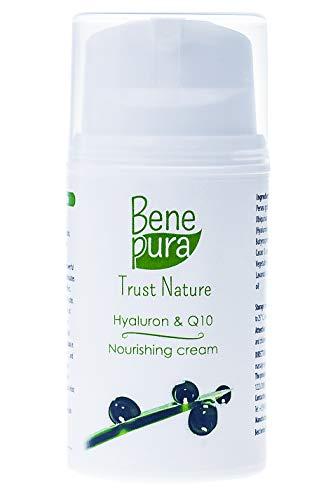 BenePura hyaluronzuur & co-enzym Q10 gezichtscrème 50ml – PREMIUM natuurlijke verzorging voor de rijpere huid - wis de tekenen van veroudering met de kracht van natuurlijke oliën, co-enzym Q10 en vitamines – zie er nu jonger uit