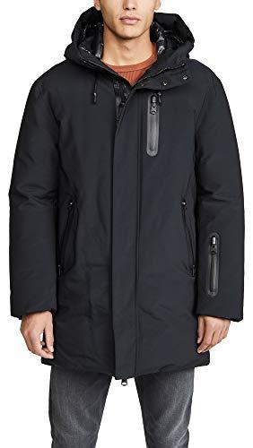 Mackage Men's Down Jacket with Sealed Seams, Black, 40