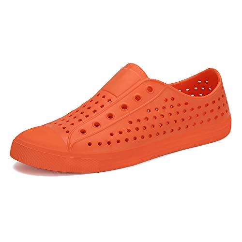 SAGUARO Clogs Pantoletten Sommer Atmungsaktiv Hausschuhe Gartenschuhe Unisex-Erwachsene Orange Gr.42