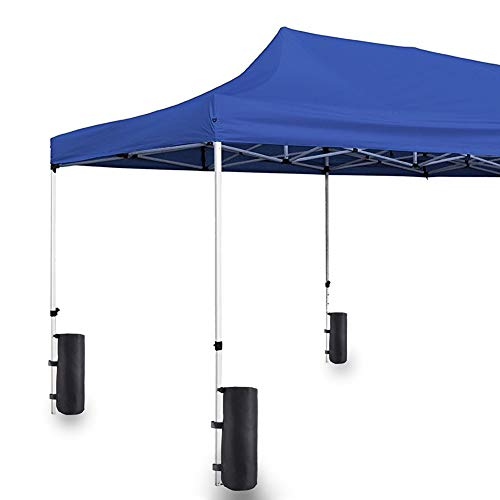Gazebo peso gamba del piede, 1/4 confezioni di sacchetti di peso avvolgenti gamba per gazebo pop up tenda tenda parasole istantanea baldacchino