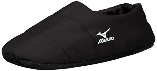 [ミズノ] MIZUNO 2足組 ルームシューズ 中綿 プリントロゴ 678-810 メンズ ブラック 日本 25-27 (日本サイズM-L相当)