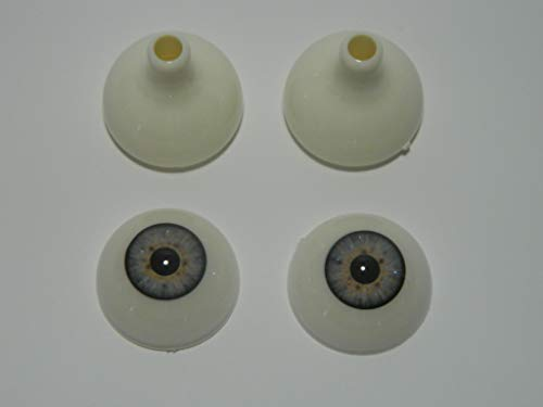 Pair of Realistic Acrylic Eyes for Halloween Props, Masks, Dolls or Bears (Blue 26mm)