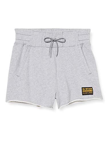 G-STAR RAW Womens High Waist Shorts, Grey Htr C332-906, Medium