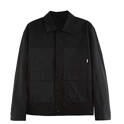 N\P Chaqueta Solapa Chaqueta Camisa Casual Hombre Abrigo