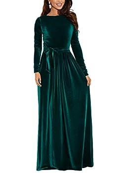 Best long sleeve velvet dress Reviews