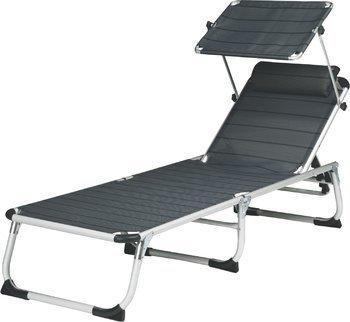 Chaise longue trois pieds oUTDOOR coussin pour chaise longue avec auvent protégeant du soleil-couleur : anthracite-pratique sTABIELO transportable chaise longue pliable en aLUMINIUM-d s sTABIELO de charge maximale : 120 holly kg-® produits sTABIELO-modèle exclusif prix des stocks plus longtemps avec holly contre supplément fÄCHERSCHIRMEN-innovation sur demande à allemagne-holly produits sTABIELO-holly-sunshade ®