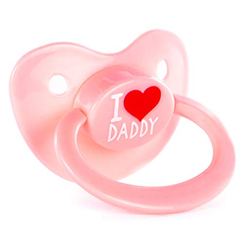 Littletude Adult Sized Pacifier Dummy for Adult Babies, Large Handle, Large Shield, Daddy