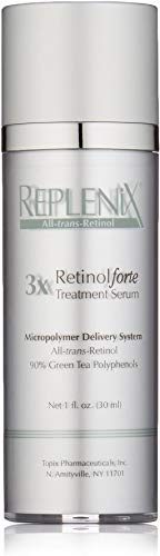 Replenix 3X RetinolForte Treatment Serum with Retinol and High Potency Antioxidants, Green Tea and Caffeine, for Fine Lines and Wrinkles, 1 Oz