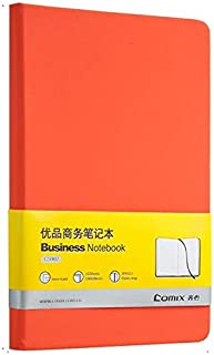 Durable Notebook Thickened A5 Soft Leather Notepad Color Small Clear Portable Diary Book Writing Pads Planner Office Stationery Office (Color : Orange)
