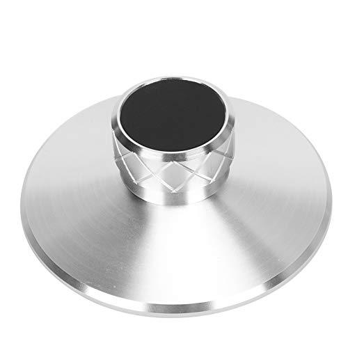 LP113 LP Reproductor de discos de vinilo Estabilizador de peso Placa giratoria Abrazadera de disco Abrazadera de peso de registro de aleación de aluminio, diámetro del orificio del eje 7,28 mm(Plata)