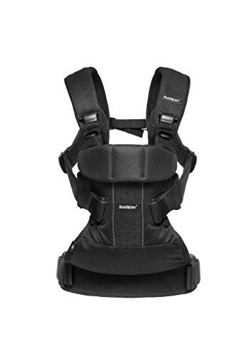 BabyBjörn One Air - Mochila portabebés, color negro