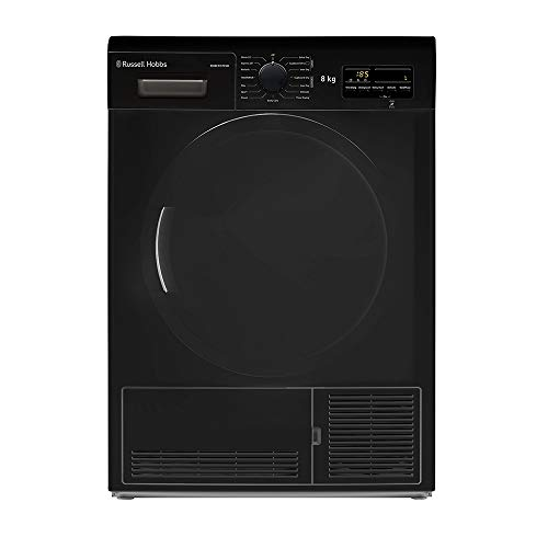 Russell Hobbs RH8CTD701B 8KG Condenser Sensor Tumble Dryer, Black