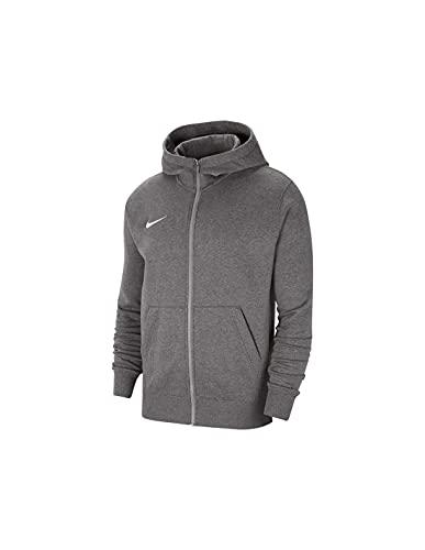Nike Jungen Park 20 Kapuzenjacke, Charcoal Heather/White, S