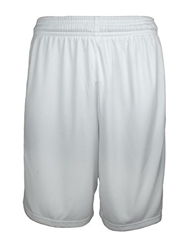 Adidas Herren-Basketball-Shorts, zum Laufen/Training, ClimaLite, atmungsaktive kurze Hose, NBA, Herren, weiß / blau