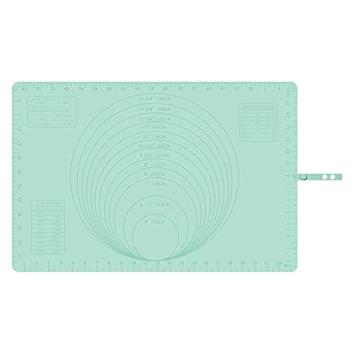 FETESNICE Silikon Backmatte mit Maß 60 x 40 cm, Antihaft-Silikon-Backmatte, Matten für Fondant, Kekse, Pizzateig