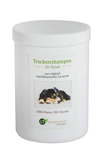 LT-Naturprodukte Shampoo Secco per Cani - con Argilla Pura, marocchina | vegana e Biologica, per la Cura del Pelo Senza Prodotti chimici | 1 kg