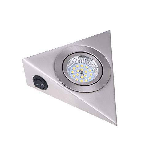 Uonlytech - Luz para armarios (13 x 13 cm, bajo iluminación de gabinete, para cabina de vino, armario de pared, pasillo, dormitorio, cocina)