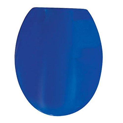 MSV WC-Sitz in Thermosetting Material mit Edelstahl-Scharniere, blau